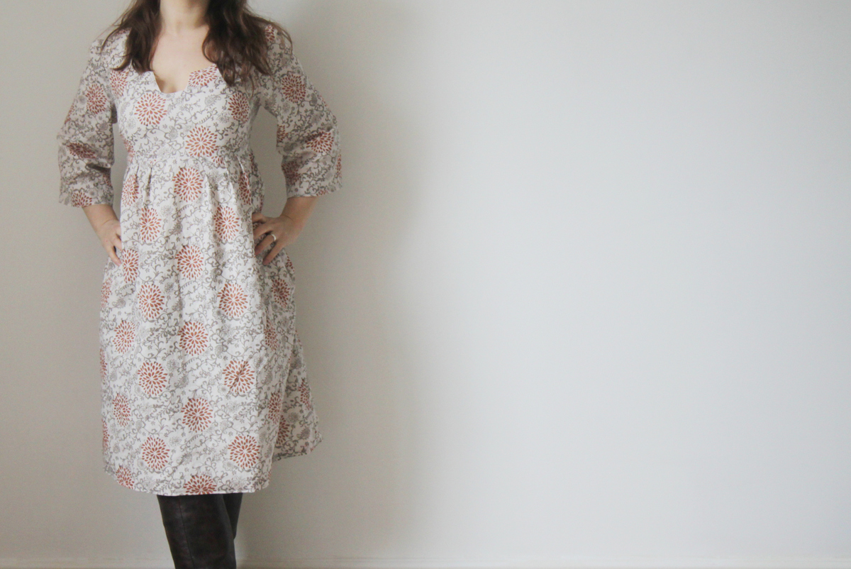 The Crafty Kitty | Organic Voile Washi Dress