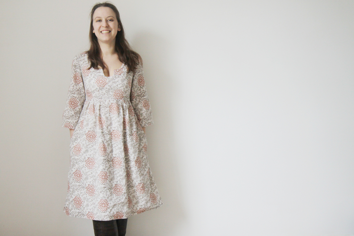The Crafty Kitty | Washi Dress hands in pockets