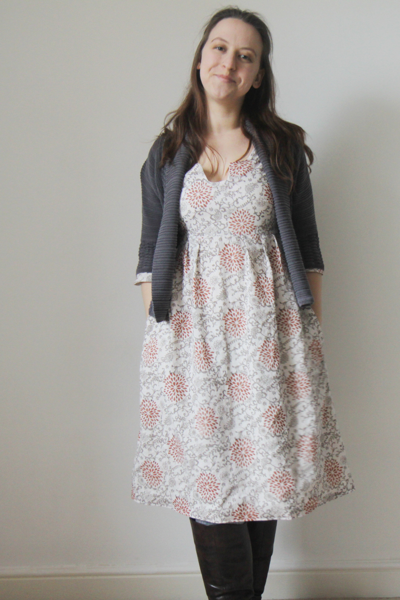 The Crafty Kitty | Washi Dress with Cardigan